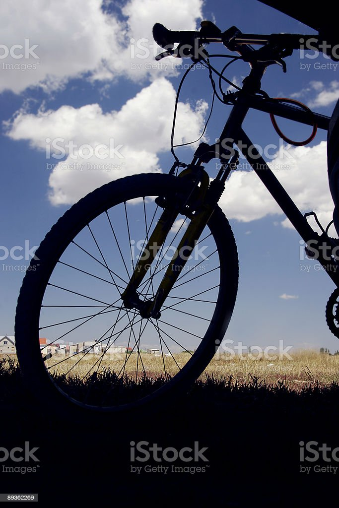 silhouette of bicycle royalty-free stock photo