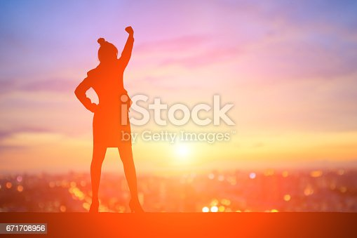 istock silhouette of businesswoman 671708956