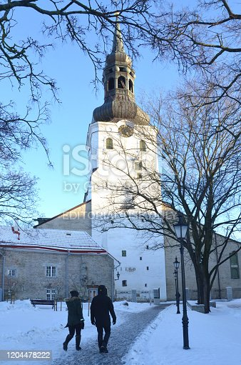 Nicholas' Church is a medieval former church in Tallinn, Estonia. It was dedicated to Saint Nicholas, the patron of the fishermen and sailors. Couple walking together