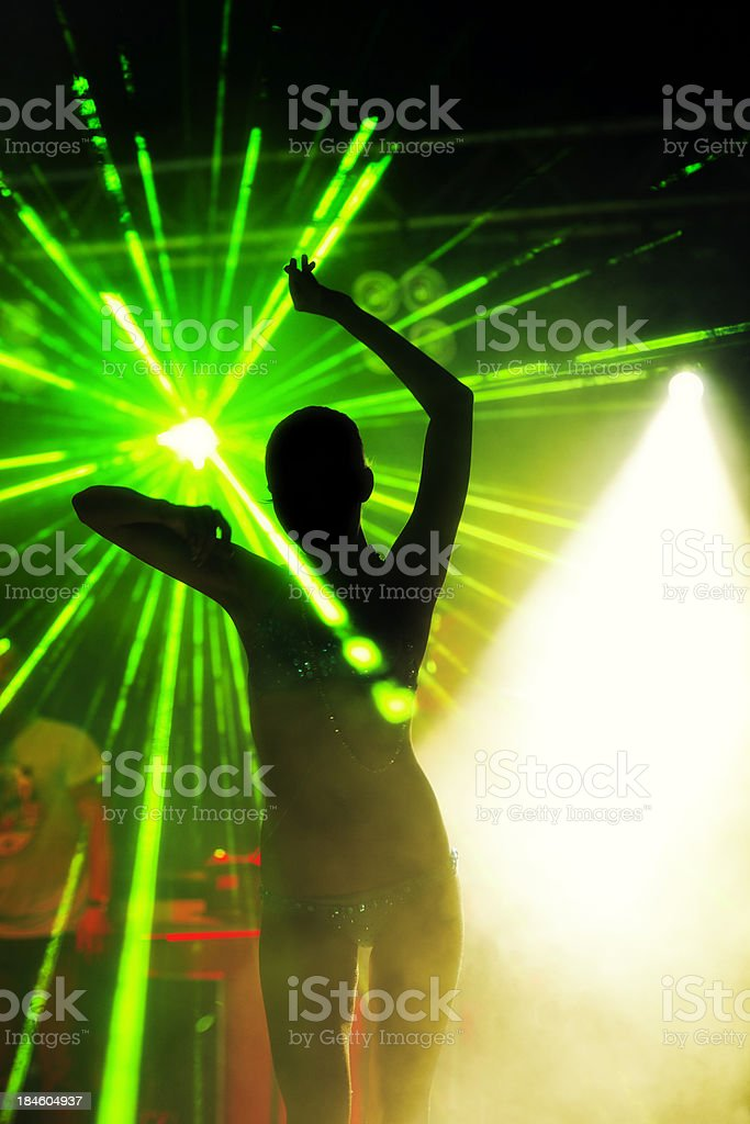 Silhouette Of Dancer royalty-free stock photo