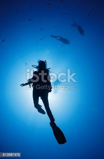 1037450870 istock photo Silhouette of diver 512597470