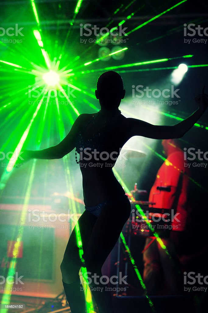 Silhouette Of Female Dancer royalty-free stock photo