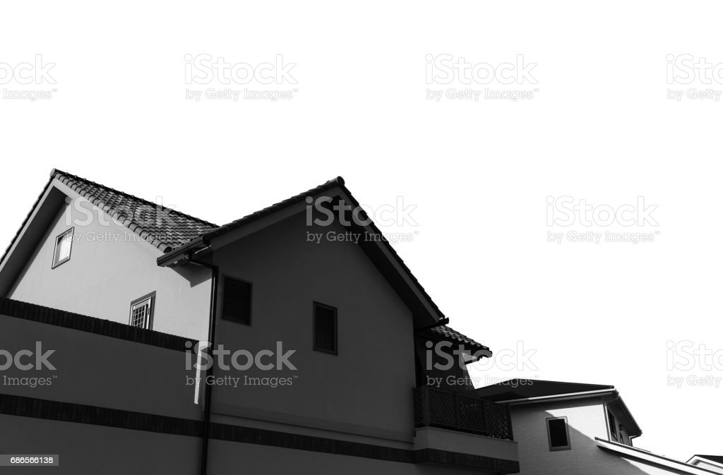silhouette of Home. royalty-free stock photo