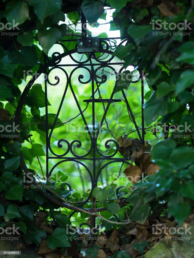 Silhouette Of Iron Garden Fence Stock Photo Download Image Now Istock