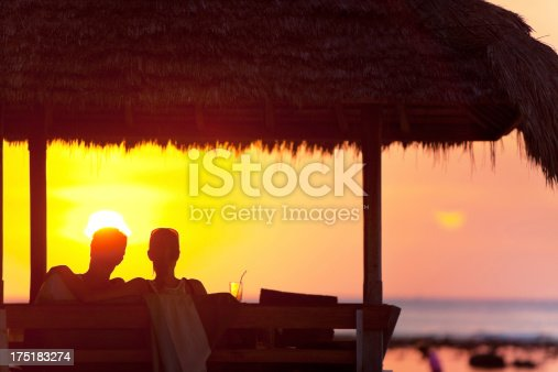 istock Silhouette of loving couple 175183274