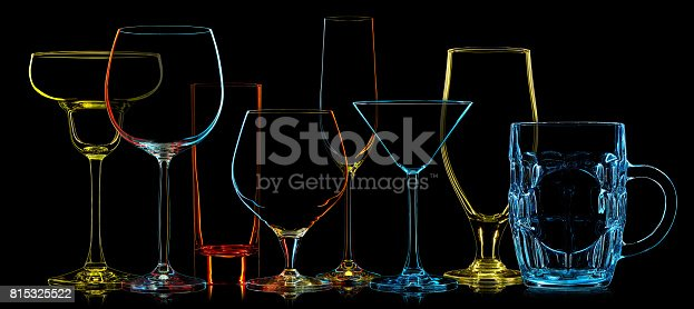 istock Silhouette of multicolor different glasses 815325522