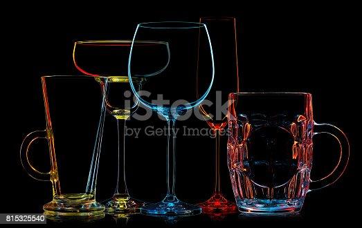 istock Silhouette of multicolor different glasses 815325540