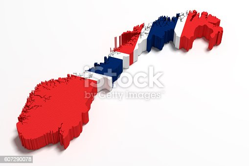 istock Silhouette of Norway map with flag 607290078