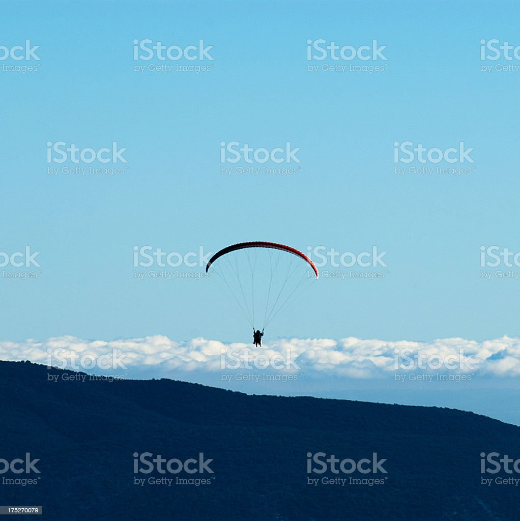 Silhouette of Paraglider royalty-free stock photo