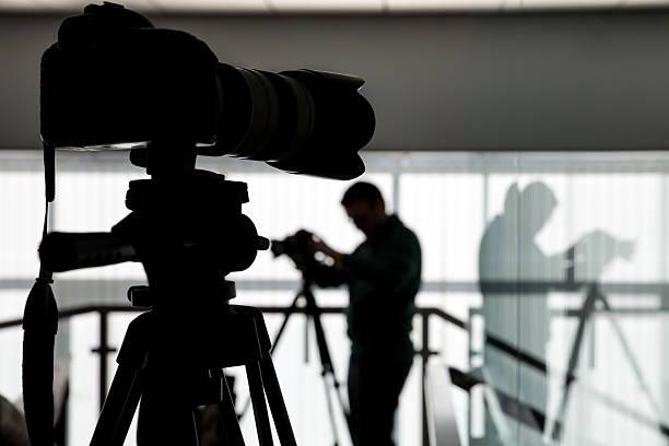 Kontur der Fotograf und Kameramann – Foto