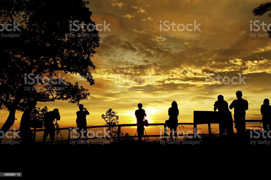 silhouette of photographers royalty-free stock photo