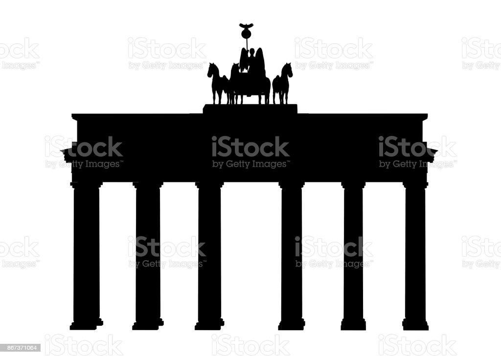 Silhouette des Brandenburger Tors in Berlin – Foto