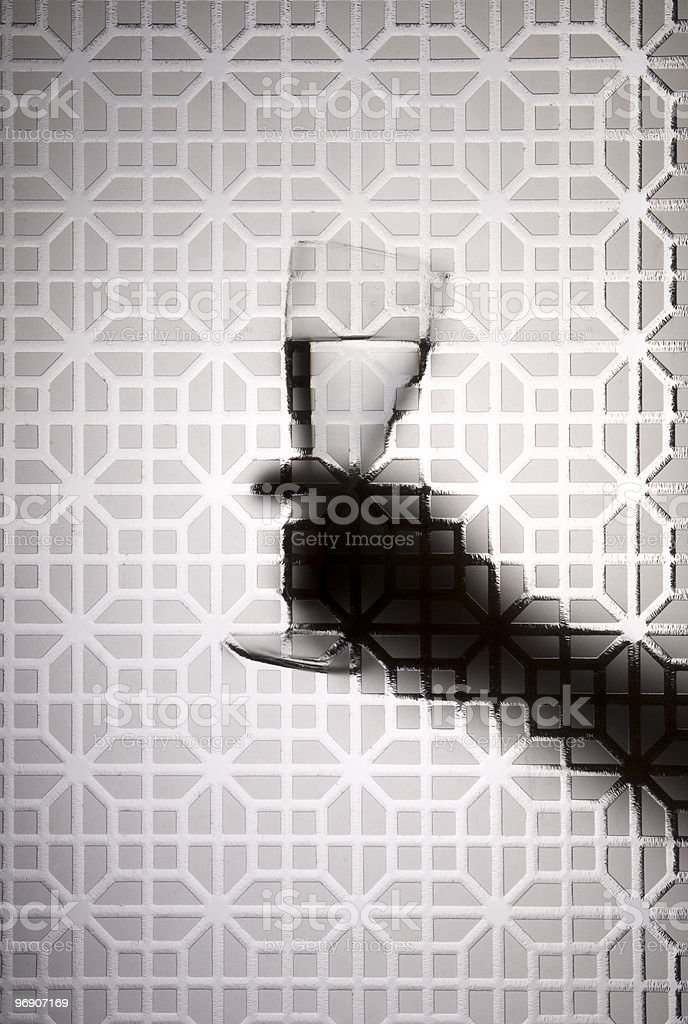 Silhouette of the glass royalty-free stock photo
