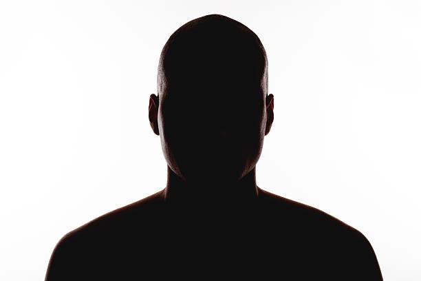 silhouette der mann auf einem weißen hintergrund. - gegenlicht stock-fotos und bilder