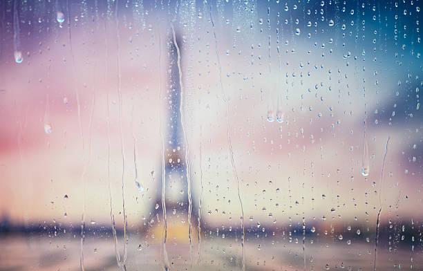 Silhouette of Tour Eiffel stock photo