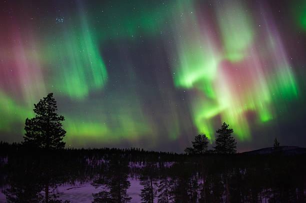 Aurora Borealis (Northern ライト) ストックフォト