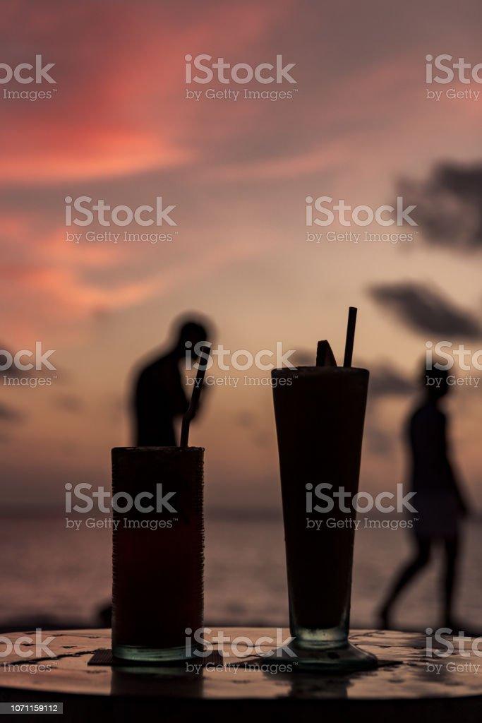 concept of enjoying holidays during an evening