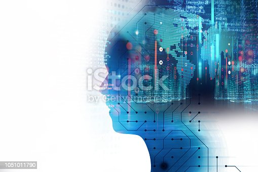 istock silhouette of virtual human and programming technology 1051011790