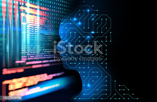 istock silhouette of virtual human on circuit pattern technology 3d illustration 1002569496