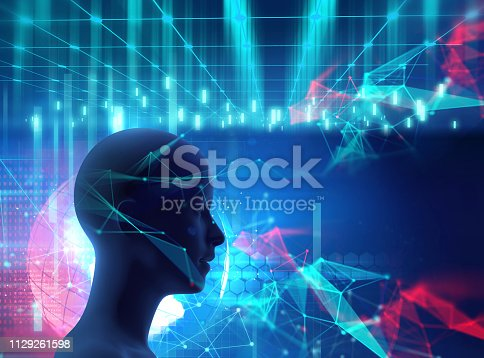 932559358 istock photo silhouette of virtual human on circuit pattern technology 3d illustration 1129261598