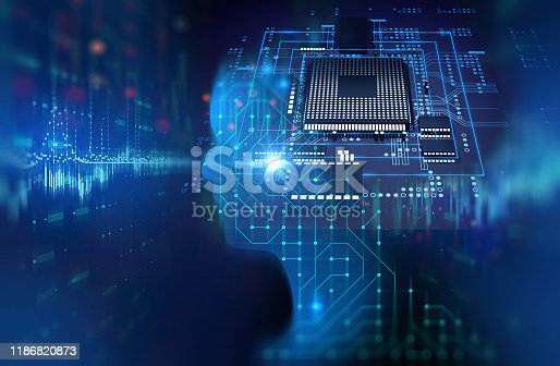 932559358 istock photo silhouette of virtual human on circuit pattern technology 3d illustration 1186820873