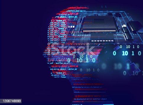 932559358 istock photo silhouette of virtual human on circuit pattern technology 3d illustration 1206746593