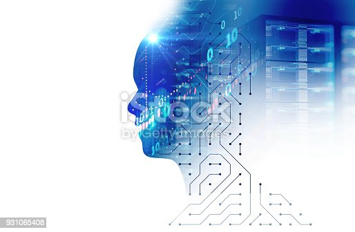 istock silhouette of virtual human on circuit pattern technology 3d illustration 931065408