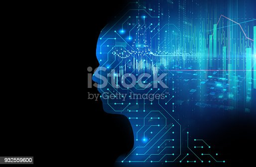 istock silhouette of virtual human on circuit pattern technology 3d illustration 932559600