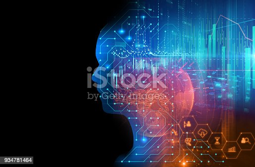 932559358 istock photo silhouette of virtual human on circuit pattern technology 3d illustration 934781464