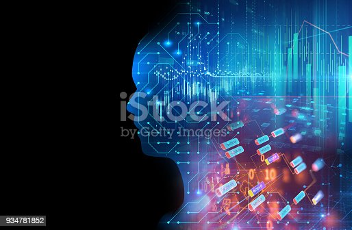 932559358 istock photo silhouette of virtual human on circuit pattern technology 3d illustration 934781852