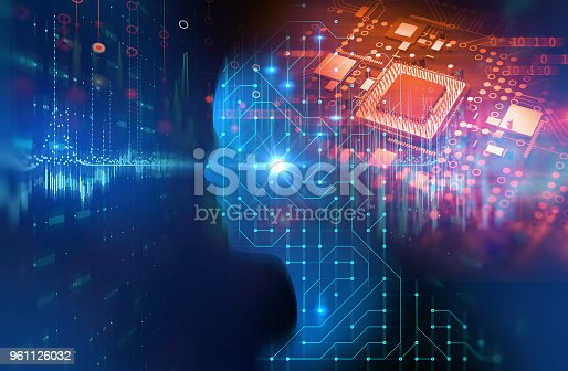 istock silhouette of virtual human on circuit pattern technology 3d illustration 961126032