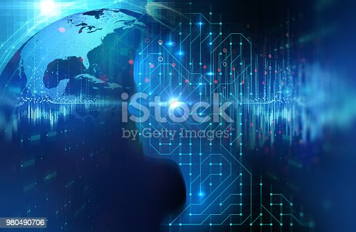 istock silhouette of virtual human on circuit pattern technology 3d illustration 980490706