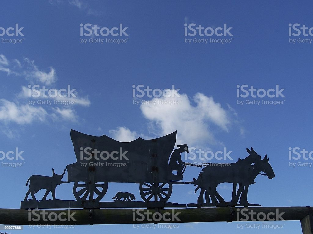 silhouette of wagon royalty-free stock photo