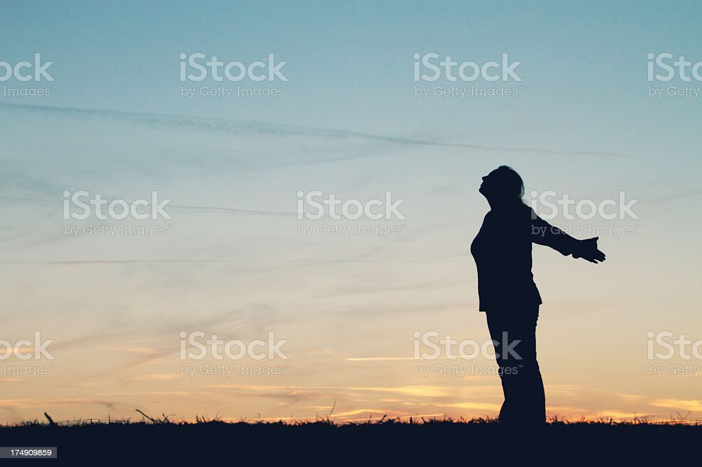 Silhouette of Woman royalty-free stock photo