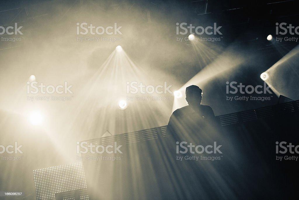 DJ Silhouette royalty-free stock photo