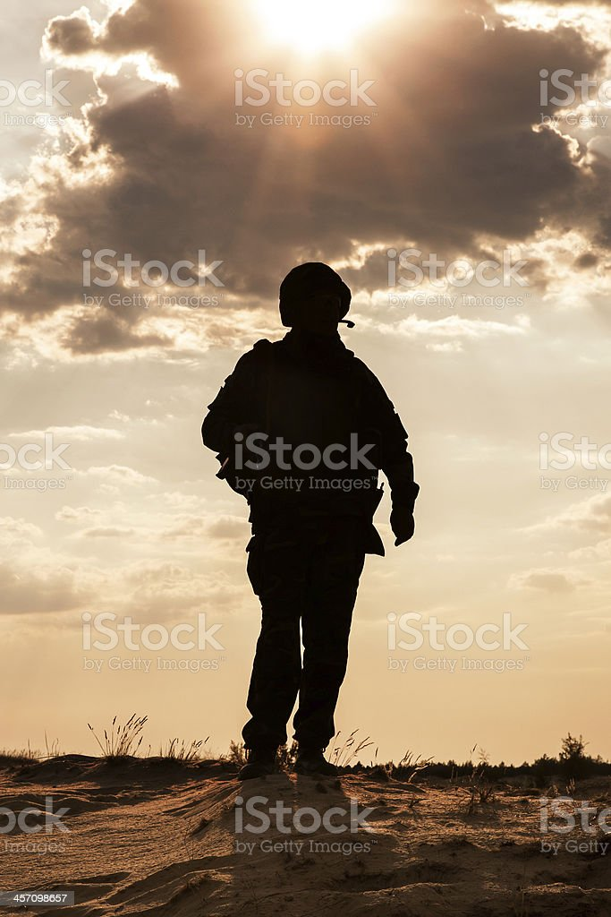Silhouette stock photo