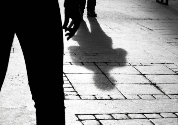 Silhouette shadow of two people