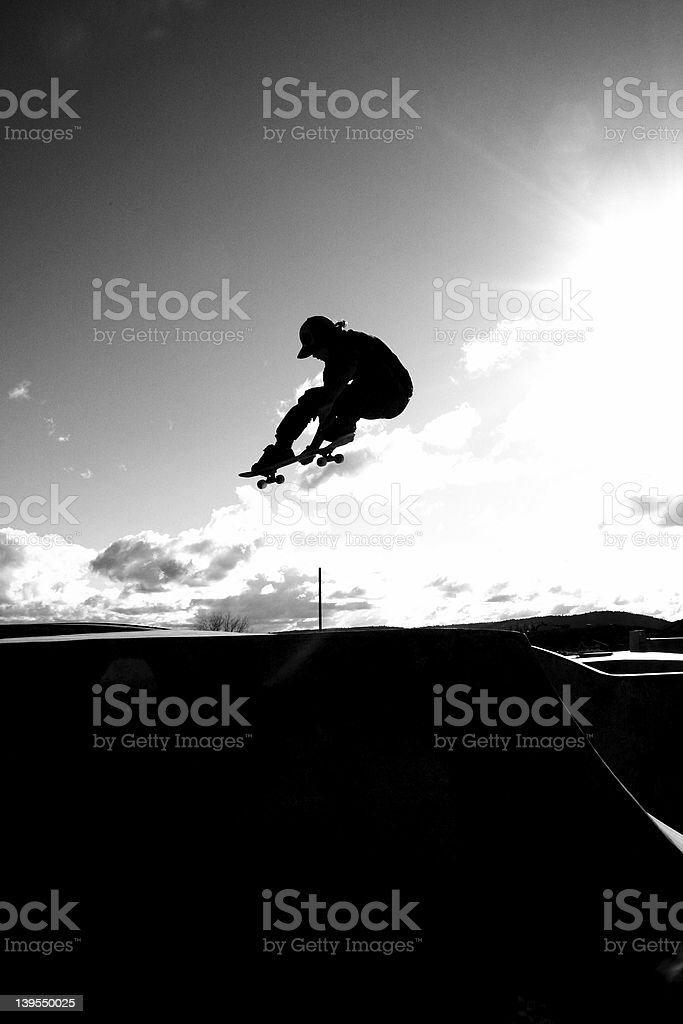 Silhouette Skater stock photo