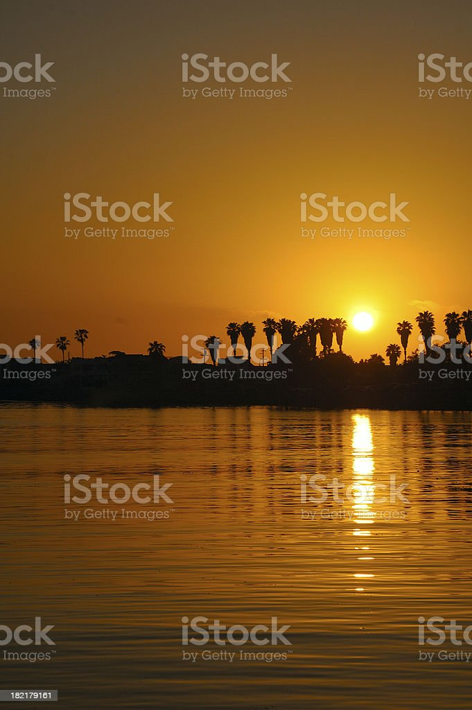 Silhouette Sunset royalty-free stock photo