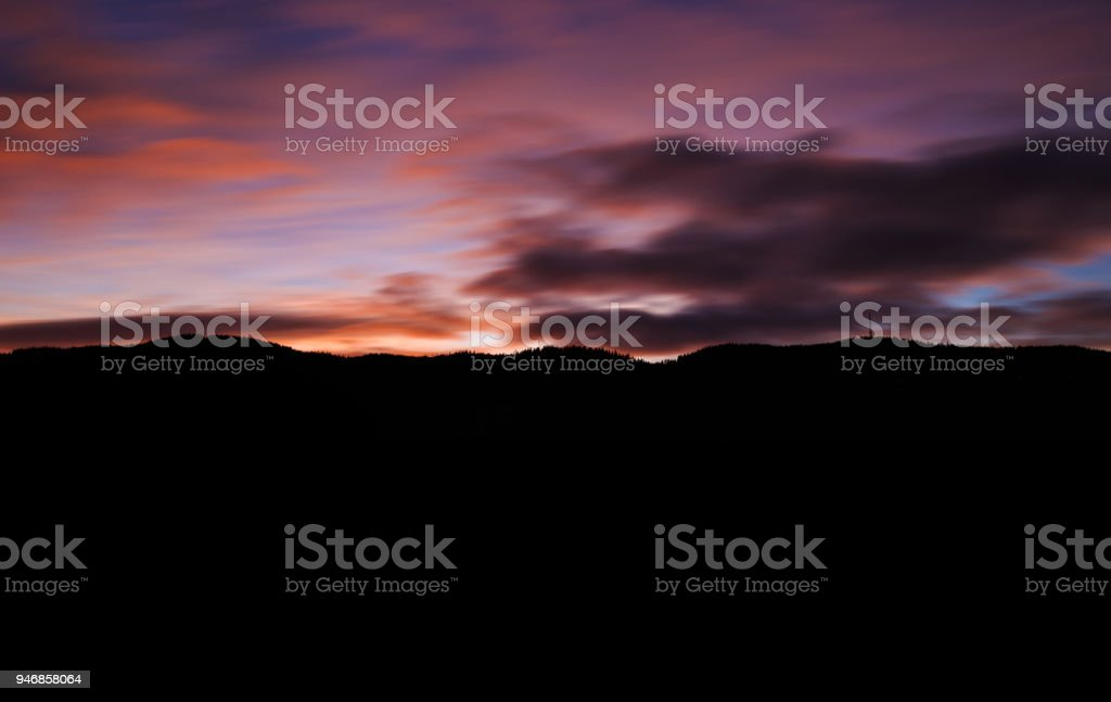 Silhouette sunset stock photo
