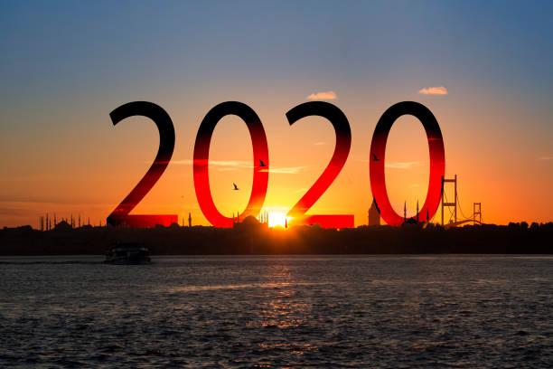 texte de silhouette au coucher du soleil - 2020 photos et images de collection