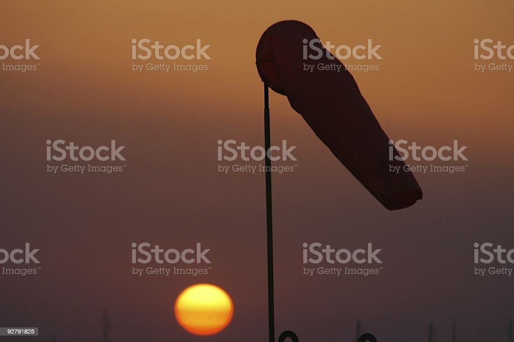 Silhouette - windsock royalty-free stock photo