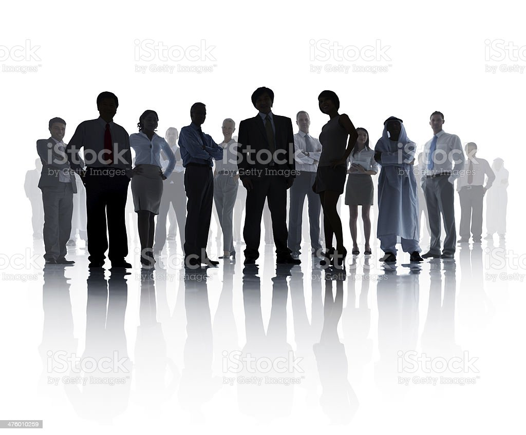 Silhouetted Business Team stock photo
