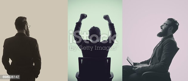 istock Silhouettes of a bearded man 698006142