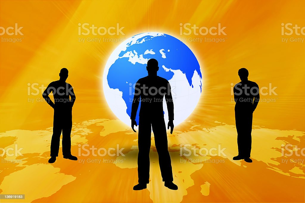 Silhouettes of Business People royalty-free stock photo