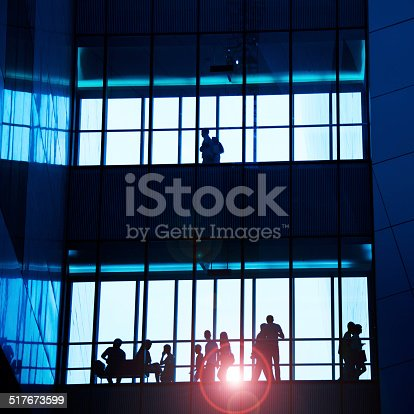 905689676 istock photo silhouettes of business people 517673599