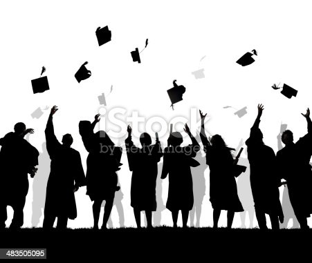 istock Silhouettes of Diverse International Students Celebrating Graduation 483505095