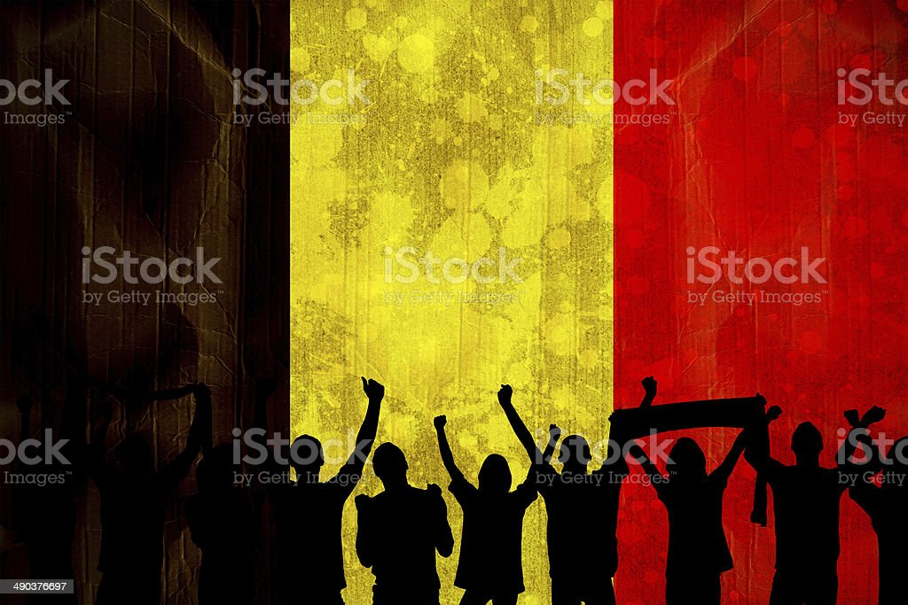 Silhouettes de supporters de football américain - Photo