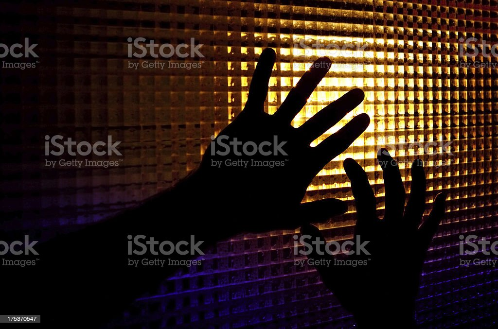 silhouettes of hands royalty-free stock photo