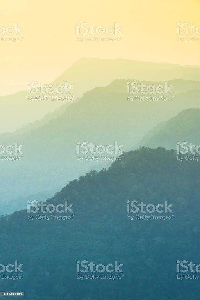 silhouettes of mountain stock photo